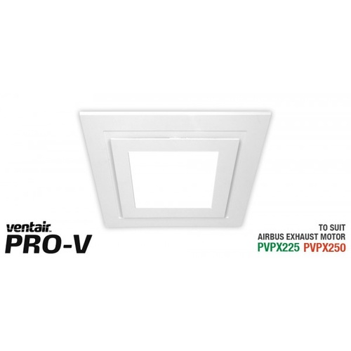 White Square Fascia with 14w LED Panel (891Lm, 4200 NW) to suit AIRBUS 225 & 250 body (PVPX225 or PVPX250)