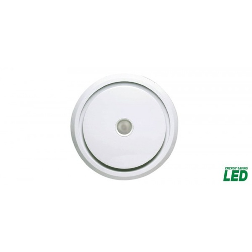 LARIVEE 200 - 240mm Cut-out Round Exhaust Fan with LED included - White