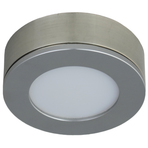 Conceal Cabinet Light Single Unit Only Brushed Nickel 4W 3000K