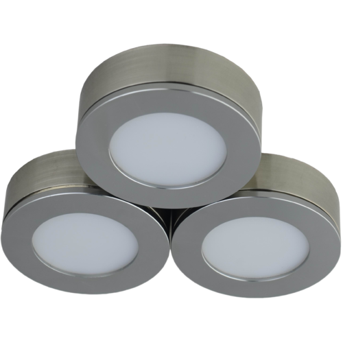 Conceal Cabinet Light 3Pc / Pk Brushed Nickel 3 X 4W 3000K
