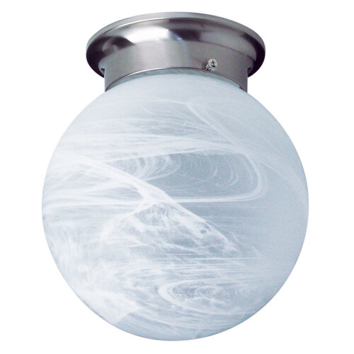 20CM ALABASTER BALL DIY BRUSHED CHROME