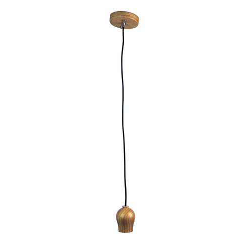 BUD SINGLE PENDANT SUSPENSION NATURAL TIMBER