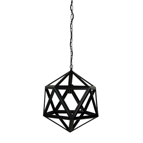 GEO 1 SINGLE PENDANT MATT BLACK