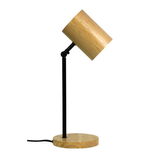 CHAD DESK LAMP BLACK & WOOD