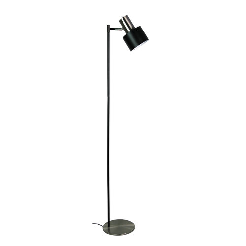 ARI FLOOR LAMP BLACK w/ BRUSHED CHROME HEAD